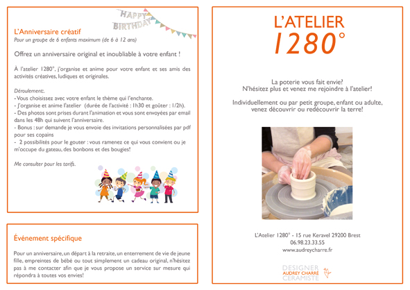 flyer tarif cours poterie