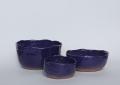 Saladier gigogne - Pince bleu sèvres